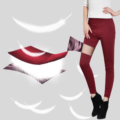 冬季新款高腰羽绒裤女外穿显瘦