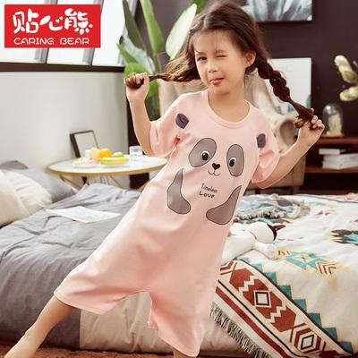 【贴心熊】夏季薄款儿童连体纯棉睡裙