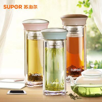 【苏泊尔】双层加厚透明水晶玻璃杯