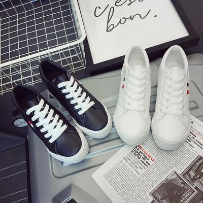 秋冬季新款韩版系带低帮鞋