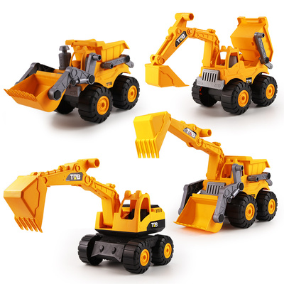 大号儿童挖掘机推土机沙滩玩具
