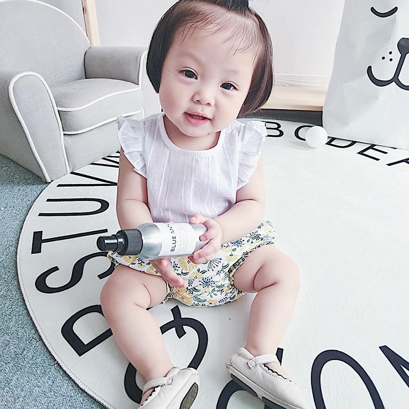 2018夏季装新款女童T恤女宝宝背心衬衫新生婴儿薄款娃娃衫0-1-2岁