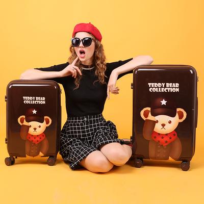 【先领券】gotrip泰迪拉杆箱卡通行李箱女可爱大学生万向轮密码旅行箱2024寸
