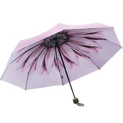 晴雨两用太阳伞防晒防紫外线迷你五折雨伞