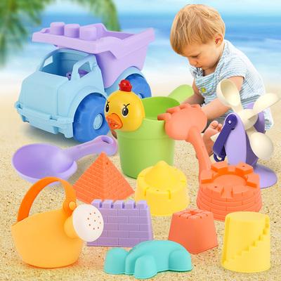 儿童沙滩玩具水桶挖沙套装工具桶车池组合