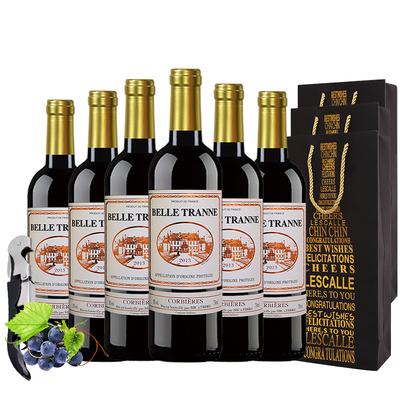 干红葡萄酒法国原品进口红酒6瓶