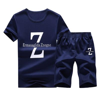 【两件套】男士修身T恤短裤韩版套装