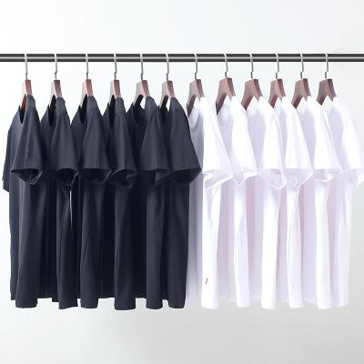 【大角鹿】潮男莫代尔纯色圆领短袖T恤