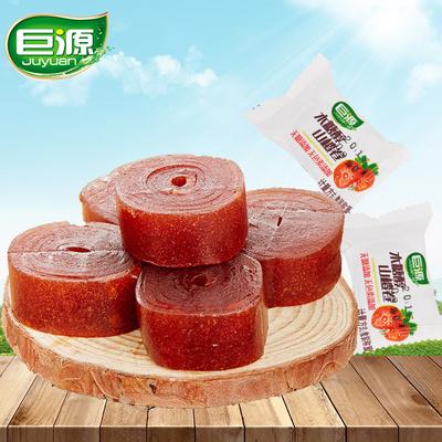 巨源木糖醇山楂卷400g*2袋果丹皮零食