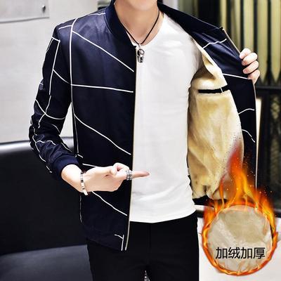 【送围巾】夹克男韩版修身棉外套