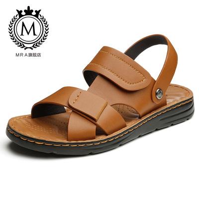【MRA】新款夏季韩版软底真皮凉鞋