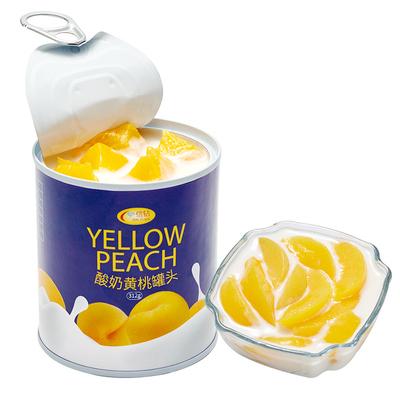 【酸奶黄桃+柠檬黄桃】罐头312*6罐