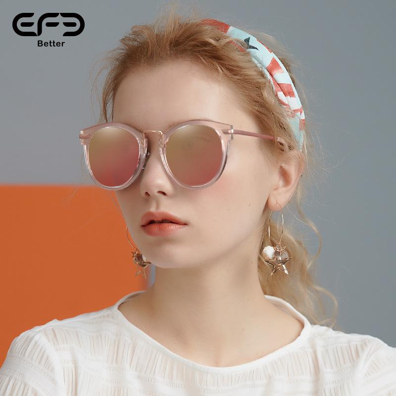 2018新潮EFE猫眼墨镜女复古
