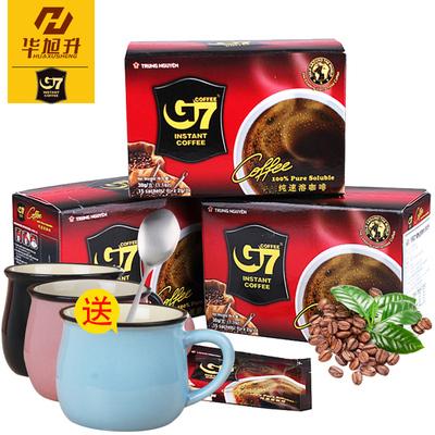送杯勺越南进口咖啡g730g*3盒45杯