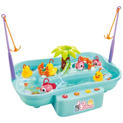 儿童钓鱼池套装电动益智玩具