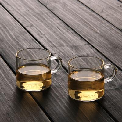【六只装】家用功夫茶具套装玻璃小茶杯