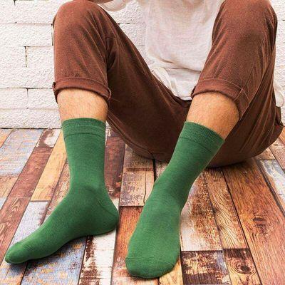 【先领券】天天特价男女袜秋冬中筒纯棉防臭全棉线纯色短筒四季船袜隐形袜