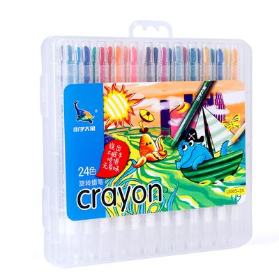 旋转蜡笔油画棒12色套装安全无毒