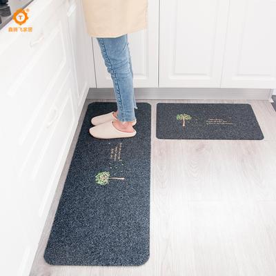 【极有家】厨房防滑地垫2条长短组合装