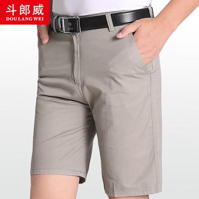 【斗郎威】男士短裤夏季新款中老年五分裤