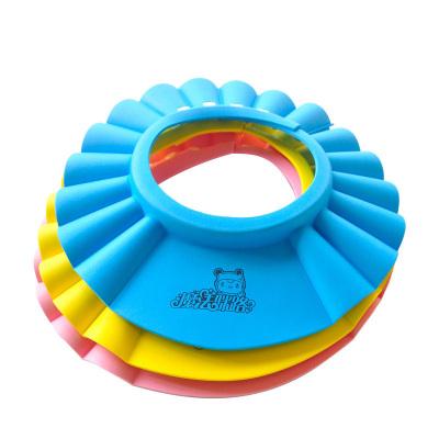 宝宝洗头帽防水护耳小孩洗澡帽弹性可调节