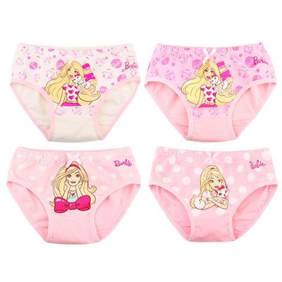 芭比 女童 纯棉三角内裤 4条装 20.8元包邮