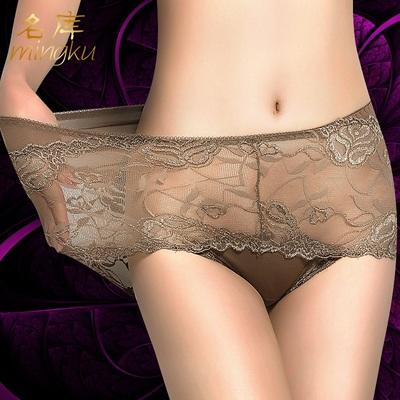 【名库】蕾丝弹性女士三角内裤*3条装
