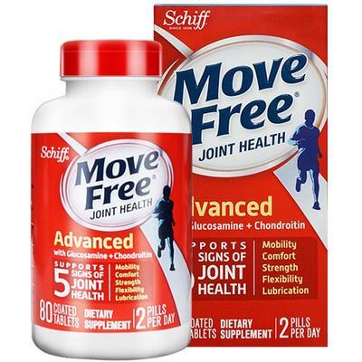 movefree 氨糖维骨力红瓶 80粒 89元包邮