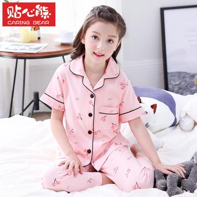 【贴心熊】纯棉薄款女童家居服套装
