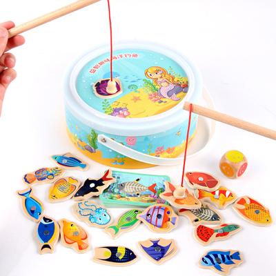 趴趴狗【儿童-益智】磁性积木钓鱼玩具