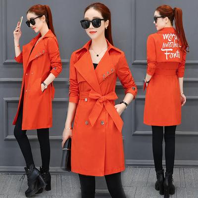 【反季促销】韩版时尚系带显瘦春秋薄外套