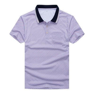 中老年男士短袖爸爸装T恤衫POLO