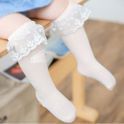 宝宝夏季薄款花边透气长袜子