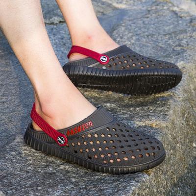 男士防滑透气包头拖鞋夏季洞洞鞋