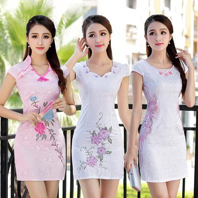 新款日常改良短款旗袍连衣裙中裙