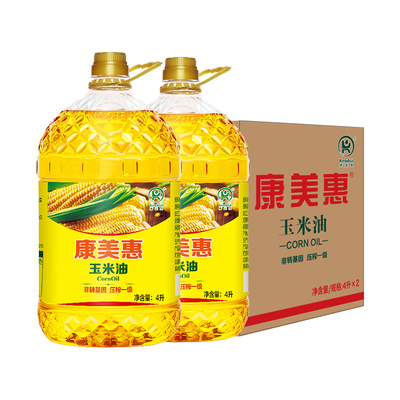 整点抢购:【天猫超市】康美惠  非转基因玉米油4Lx2桶等