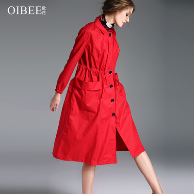 2018秋装新款女装长袖宽松显瘦大码风衣